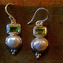 peridot with blister pearl $48