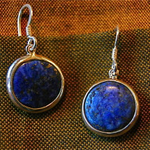 deep blue lapis lazuli, from Afghanistan, set in rugged sterling surround, $40