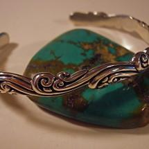 cast sterling wave bracelet $ 84
