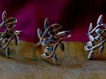 cast sterling floral ring $24
